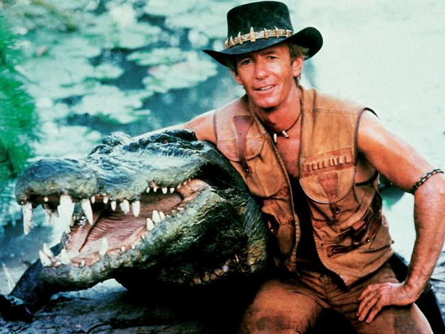 Croc wrangling: an essential part of any Corcodile Dundee reality TV competition. Picture: Paramount/The Kobal Collection