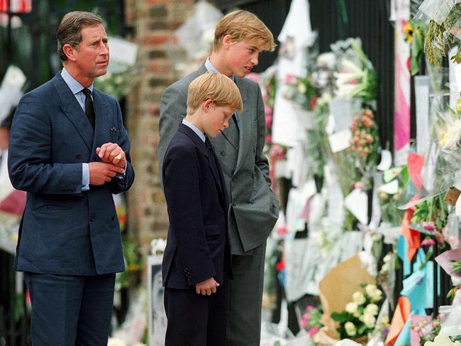 It's claimed Prince Charles told Prince Harry he could not go with him to collect Diana's body in 1997. Picture: Anwar Hussein/Wire Image