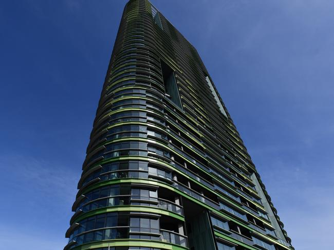 The newly built Opal Tower started cracking this week. Picture: Mick Tsikas/AAP