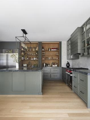The kitchen colour was inspired by silver-birch leaves.