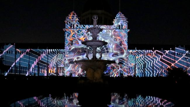 The Royal Exhibition Building in Carlton Gardens, which will again be a focus of White Night 2019. Picture: Kelly Defina, Getty Images
