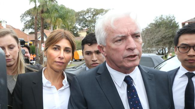 Jodhi Meares and her lawyer Chris Murphy entering Waverley Court / Picture: Ross Schultz