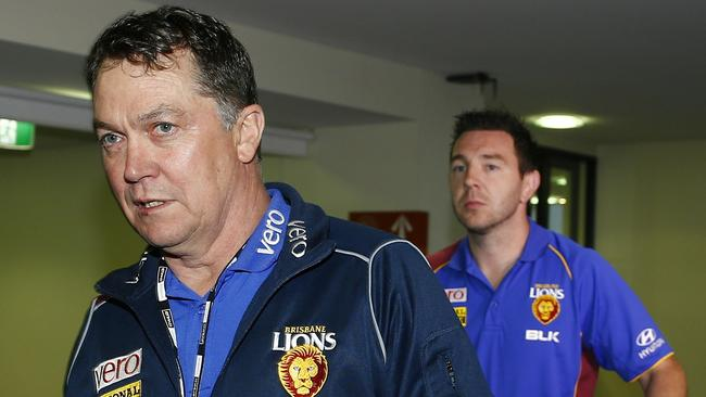 Peter Schwab, seen here in his former role of Brisbane Lions list manager, has been sacked as the AFL's umpires boss. Picture: Michael Klein