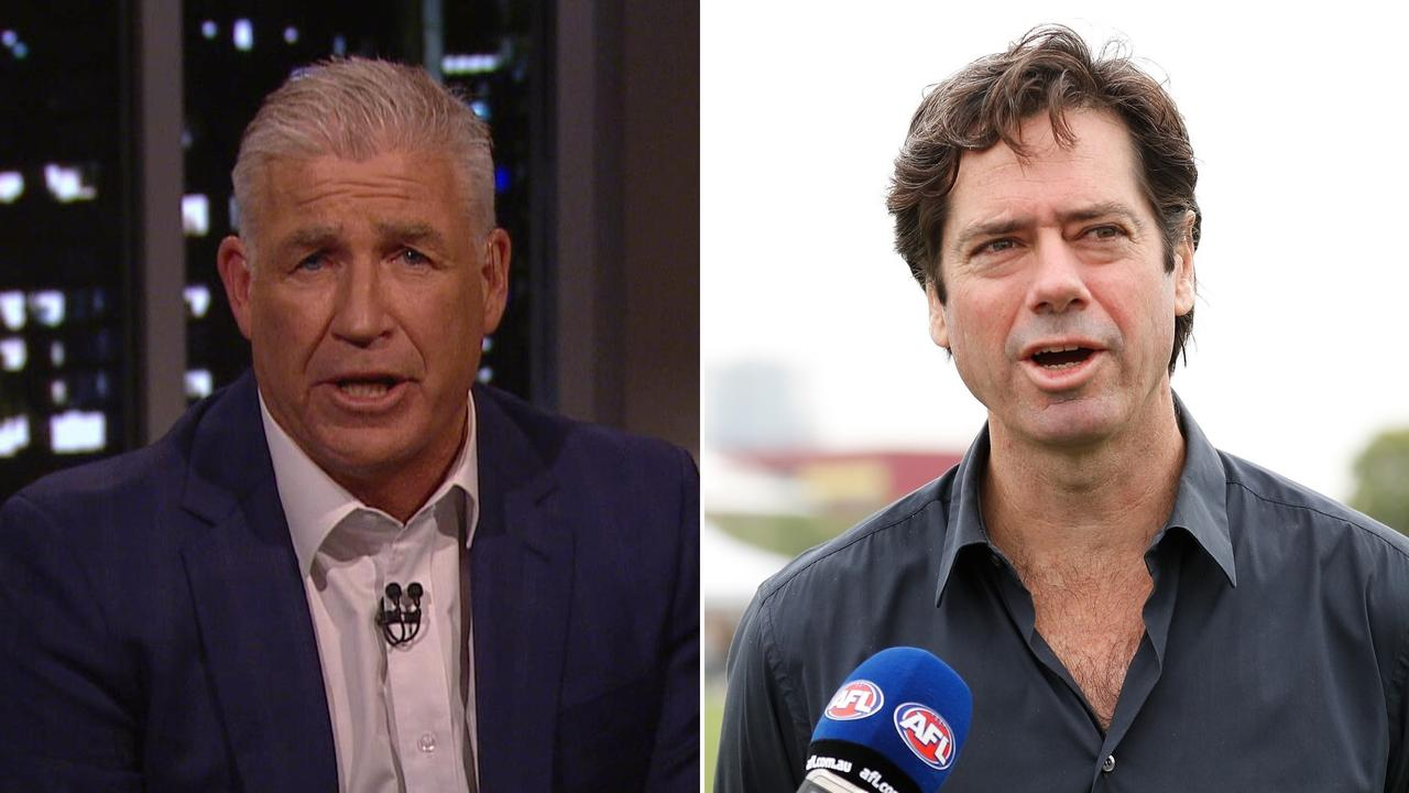 Gerard Healy had some stern words for AFL boss Gillon McLachlan.