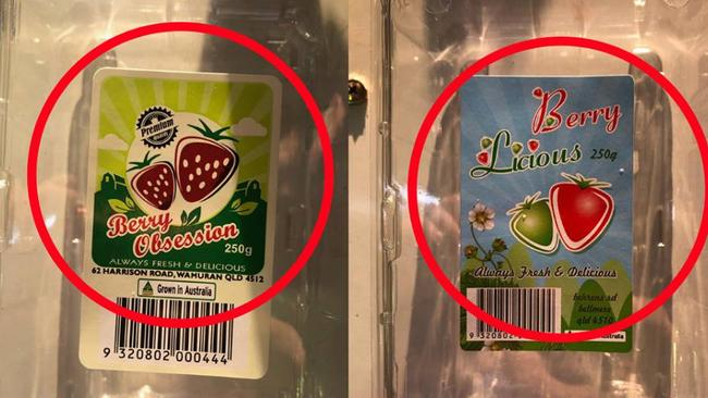 Strawberries from Berry Obsession and Berry Licious have been contaminated with sewing needles. Source: Queensland Strawberry Growers Association Facebook.