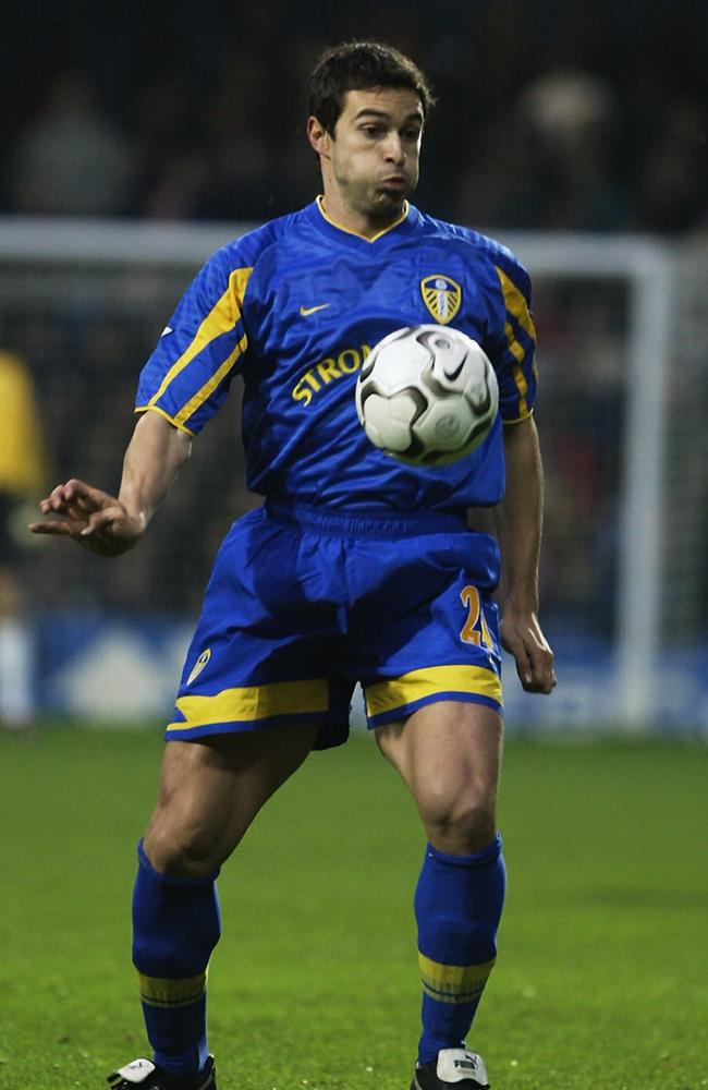 Paul Okon, playing for Leeds in the Premier League.