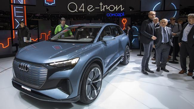Audi's Q4 e-tron concept previews another EV from the German maker.