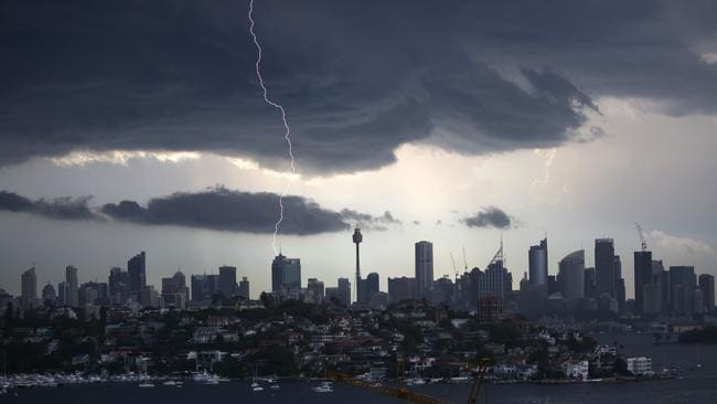 Sydney during a recent storm. Picture: Christian Gilles