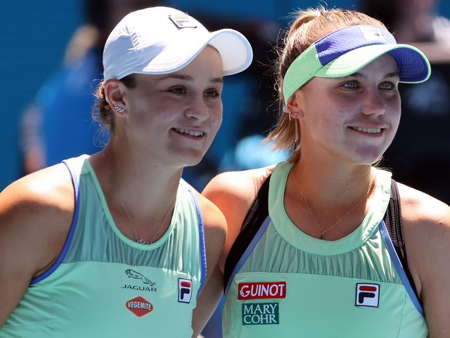 Sofia Kenin and Australia's Ashleigh Barty had people seeing two.