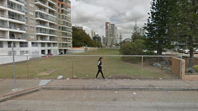 A view of the site from the Esplanade that runs alongside Surfers Paradise Beach. Picture: Google Maps