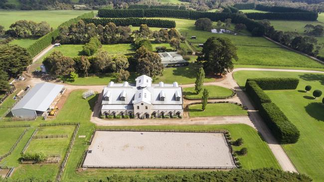 The Shoreham property sprawls over 46ha.