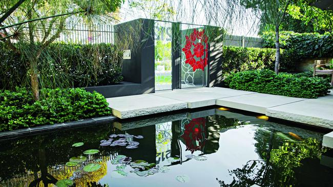 pond reflections transforming a small perth garden