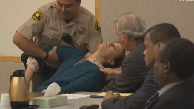 A woman fainted after being found guilty for murder-for-hire. Picture: Supplied