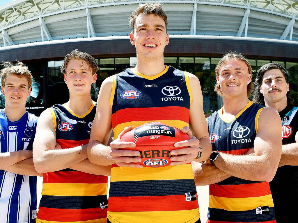 South Australian first-round AFL draft selections at Telstra Plaza, Adelaide Oval.