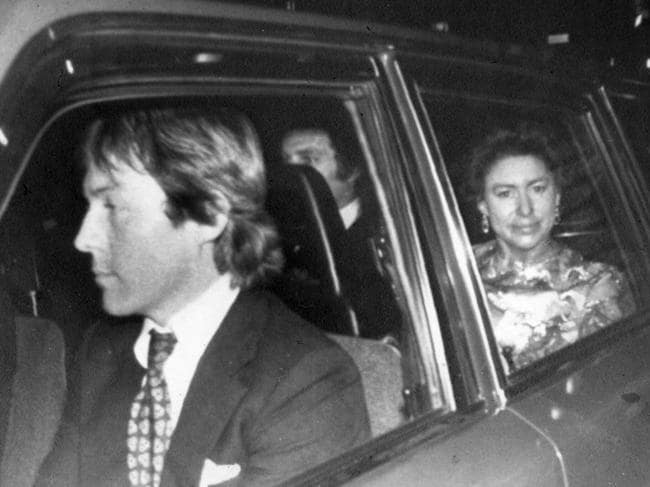 Roddy Llewellyn and Princess Margaret not long after they met. Picture: Supplied