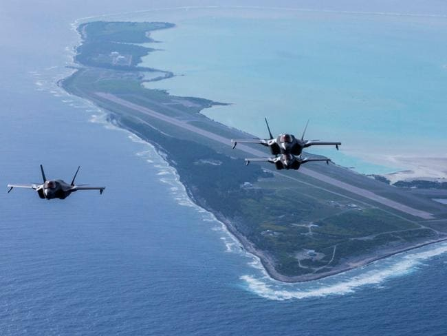 US F-35 stealth fighters deployed in the Pacific. Picture: US Department of Defence