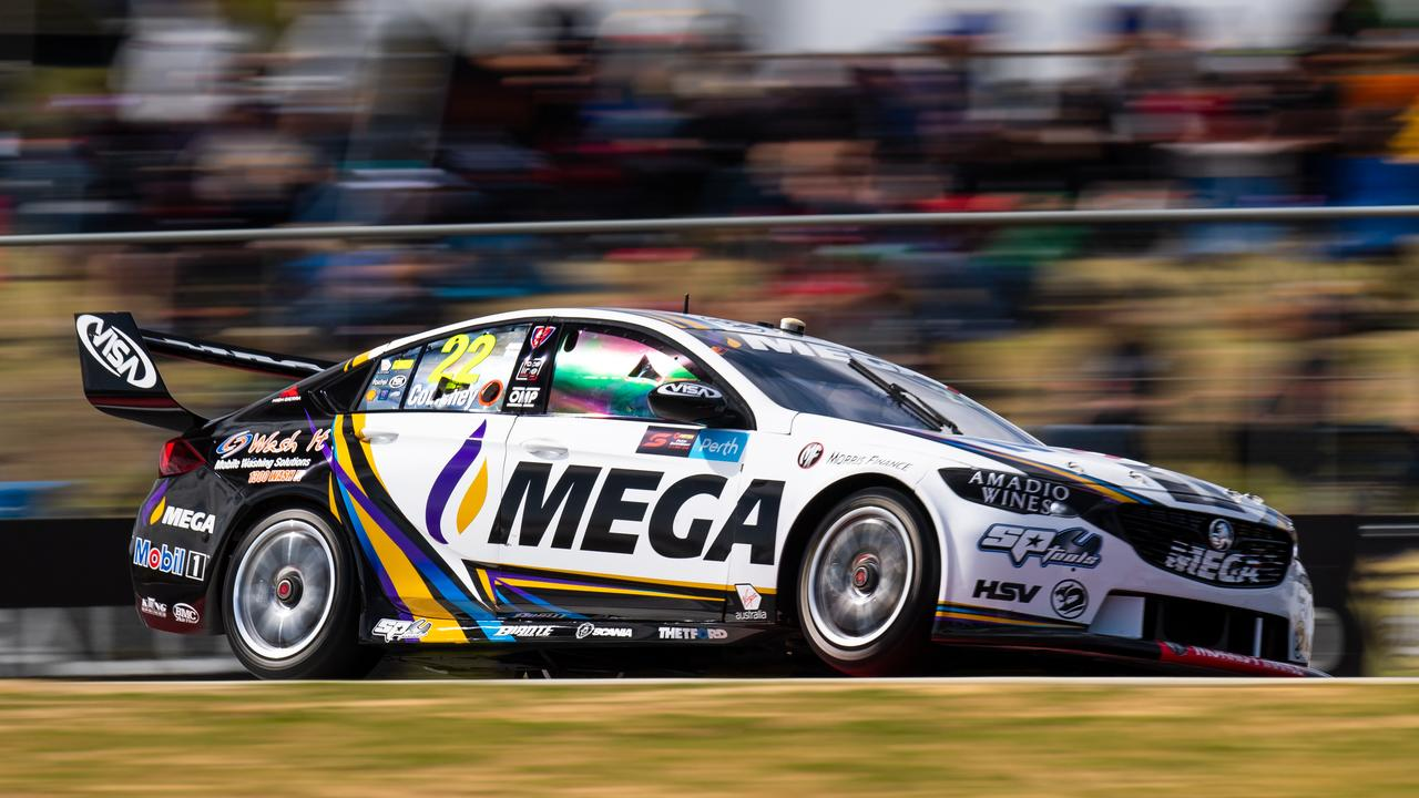 Mega's branding takes up a large chunk of one of the grid's most distinctive liveries.