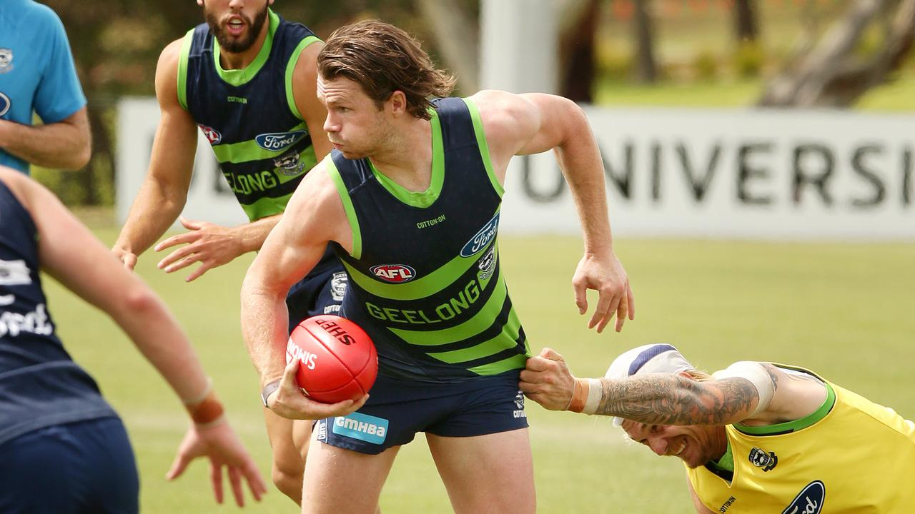 Patrick Dangerfield says he has lost close to 4kg this off-season. Picture: Alison Wynd