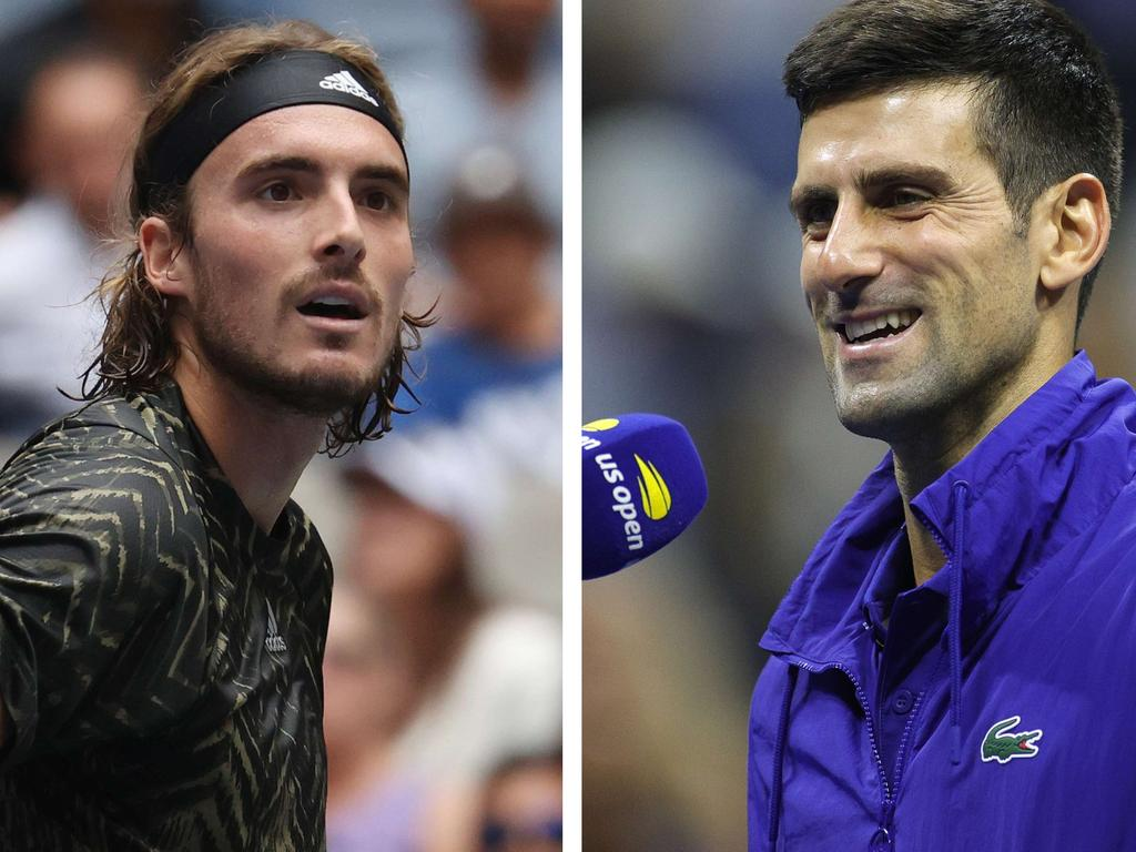 Novak Djokovic came to the defence of Stefanos Tsitsipas after the Green world No.3 came under fire throughout the US Open Photo: Getty Images