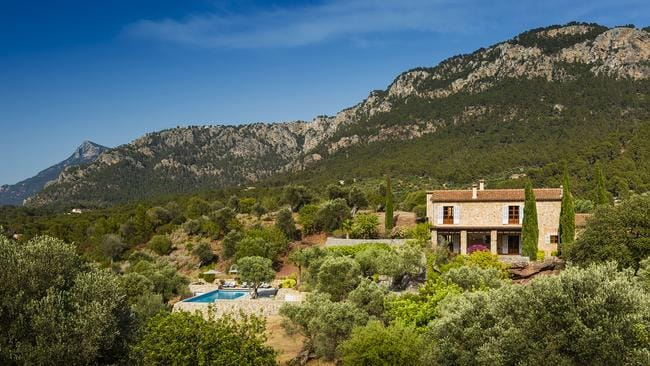 The villas are set amongst lush olive groves. Picture: Jonathan Cosh of Visual Eye