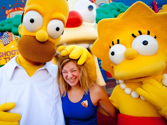 The Simpsons Ride at Universal Orlando. Picture: Universal Orlando