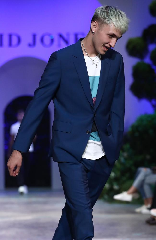 Onlookers were confused by Anwar Hadid on the runway. Picture: Mark Metcalfe/Getty Images for David Jones