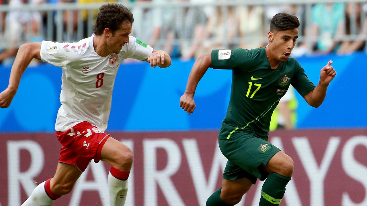 Arzani immediately changed the game once he came on against Denmark.