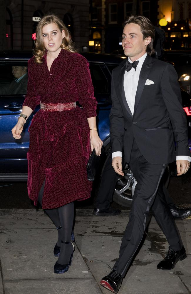 Princess Beatrice and Edoardo attend the Portrait Gala at National Portrait Gallery in March this year. Picture: Tristan Fewings/Getty Images.