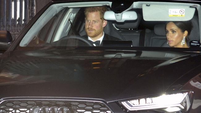 Prince Harry and Meghan arrive at Buckingham Palace. Picture: Nick Ansell