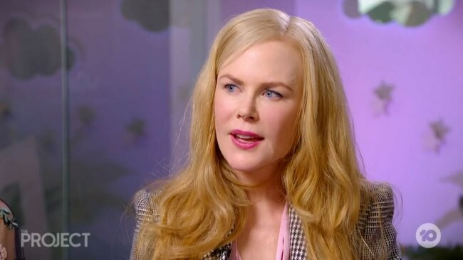 Nicole Kidman spoke about her daughters' cameos on The Project