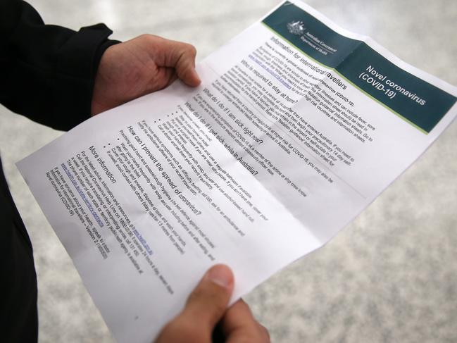 They were given information sheets. Picture: Brendon Thorne/Getty Images