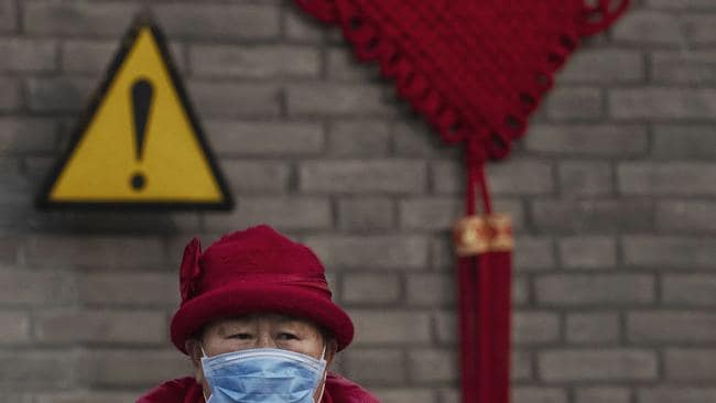 The number of cases of a deadly new coronavirus rose to over 2700 in mainland China Sunday as health officials locked down the city of Wuhan last week in an effort to contain the spread of the pneumonia-like disease which medicals experts have confirmed can be passed from human to human. Picture: Kevin Frayer/Getty Images