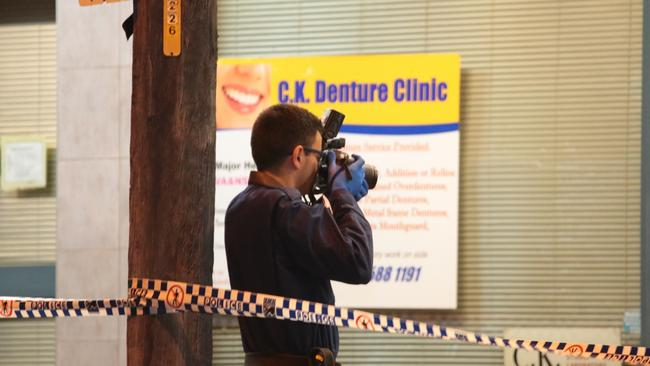 The alleged attack took place inside a bathroom. Picture: Damian Hoffman