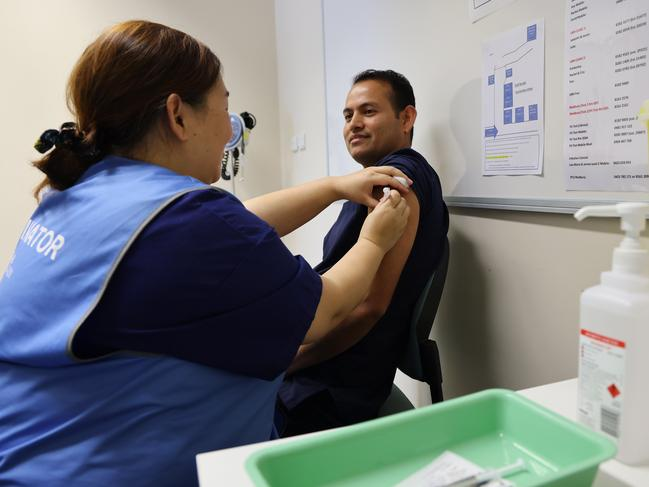 The SA Best MLC has also called for vaccination restrictions to be lifted so every Australian was eligible to get the jab they wanted without having to wait. Picture: NCA NewsWire / David Mariuz