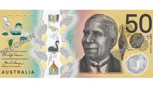 The signature side of the new $50 note