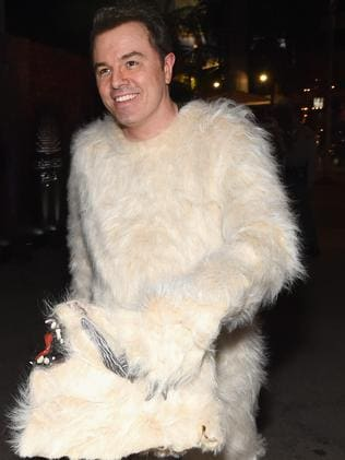 Seth MacFarlane dressed as a Wampa. Picture: Getty