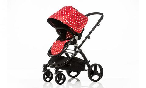 "LADY BUG COMET: The babybee Comet is a lightweight, all-terrain travel system that will to take you from newborn to 36 months and last you through multiple children. Designed with safety, quality and style in mind, the Comet is ideal for urban living and weekend adventures.  <a href=""http://babybeeprams.com.au/collections/bassinet/products/copy-of-red-stripe-comet-silver-frame-2-in-1-bassinet-stroller-set"">BUY IT HERE</a>"