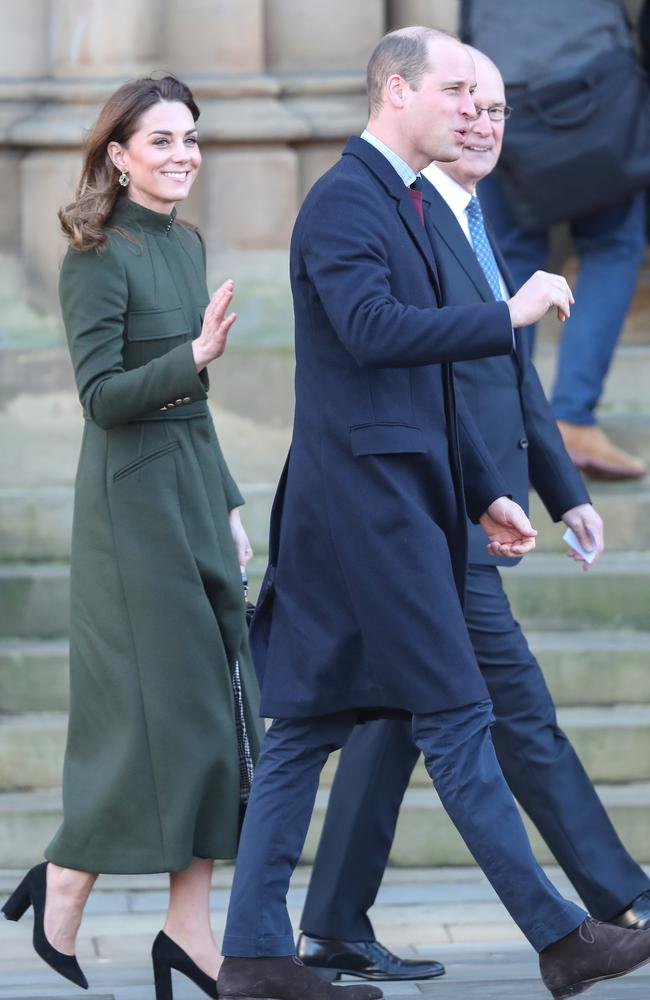 Wills and Kate were back to work in Bradford on Wednesday. Picture: Chris Jackson/Getty Images.