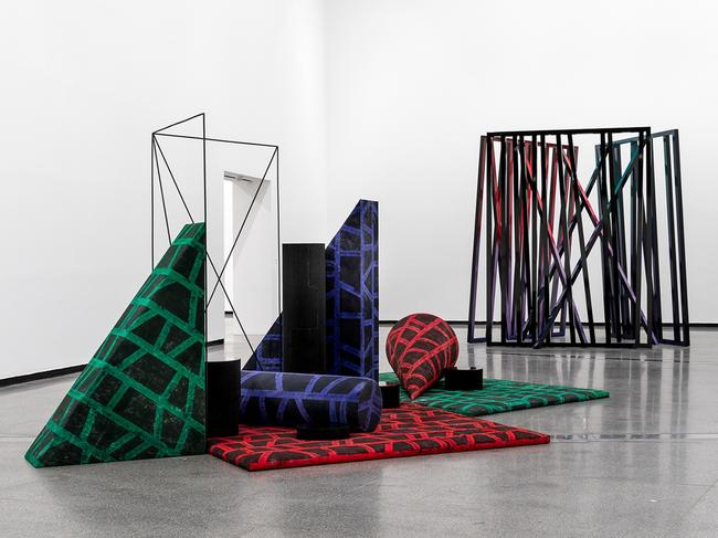 If you're keen to see an Exhibition this weekend you can see Eva Rothschild's work in Southbank. Picture: Supplied