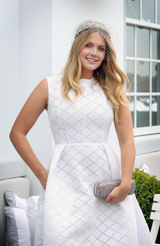 Kitty Spencer at the 2015 Melbourne Cup. Picture: Richard Dobson