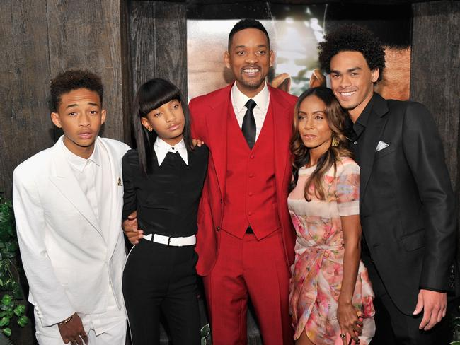 Family time ... Will Smith and Jada Pinkett Smith with children Jaden, Willow and Trey. Picture: Stephen Lovekin/Getty Images