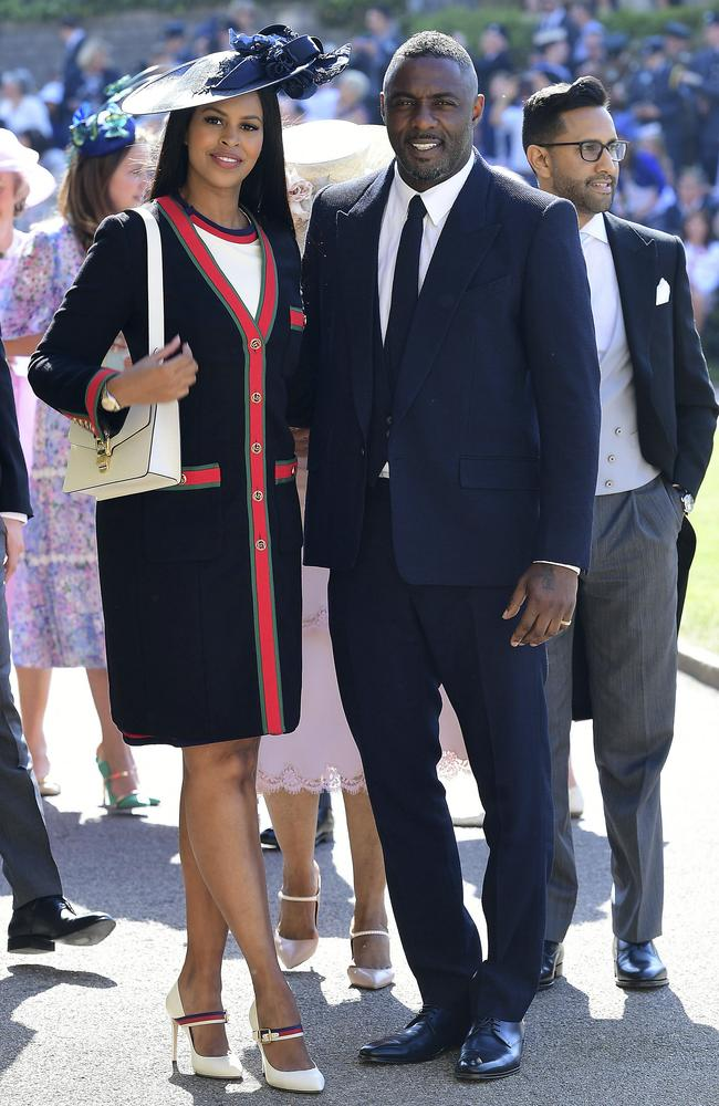 Star power: Idris Elba and Sabrina Dhowre arrive. Picture: AP