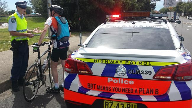 Wonder if this troublemaker was riding on the footpath like a reckless criminal.