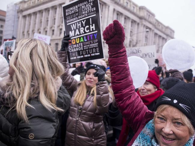 Demonstrators march down Pennsylvania Avenue during the 2019 Women's March. Picture: Getty