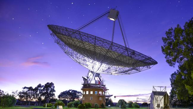 The Dish at Parkes played an integral role in broadcasting the Apollo 11 Moon landing to the world. Picture: Noel Barber