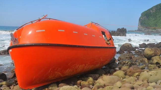 Experiment ... the orange lifeboats were used in turn-back operations last year.