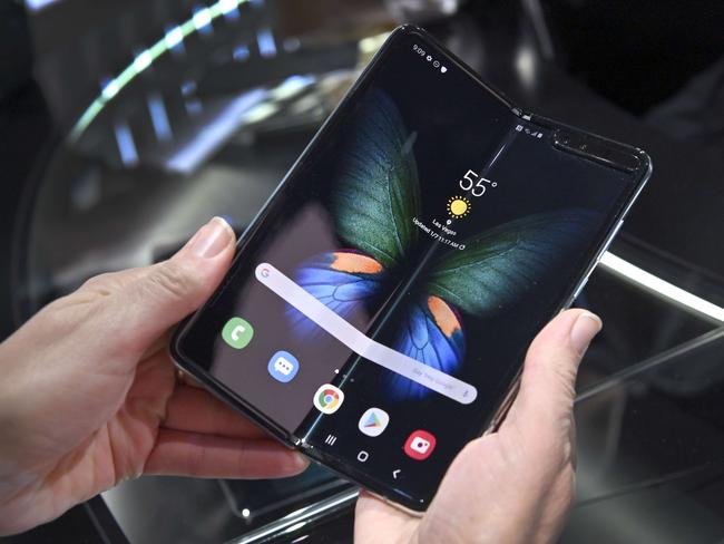 The Galaxy Fold 5G. Picture: David Becker/Getty Images/AFP