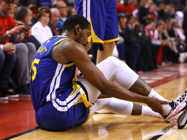 Kevin Durant will miss the entire season.