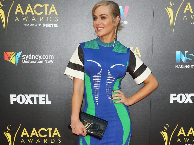 Jessica Marais at 6th AACTA Awards, Dec 7, 2016 in Sydney. Photo: Don Arnold/WireImage via Getty.