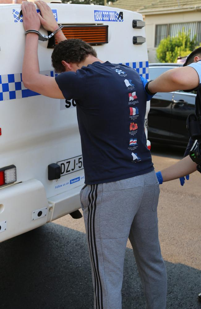 He was taken to Bankstown Police Station. Picture: NSW Police